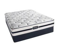 Simmons Beautyrest California King Size Luxury Plush Comfort Mattress and Box Spring Sets With Frame N Plainfield CalKing PL Low Pro Set with Frame N