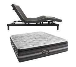 Simmons Beautyrest California King Size Luxury Firm Comfort Mattress and Adjustable Bases Desiree CalKing LF Mattress w Base N