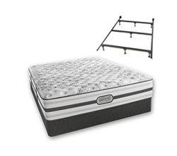 Simmons Beautyrest Twin Size Luxury Extra Firm Comfort Mattress and Box Spring Sets With Frame Astrid Twin XF Std Set with Frame N