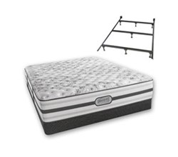 Simmons Beautyrest Queen Size Luxury Extra Firm Comfort Mattress and Box Spring Sets With Frame Astrid Queen XF Low Pro Set with Frame N