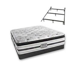 Simmons Beautyrest Queen Size Luxury Plush Pillow Top Comfort Mattress and Box Spring Sets With Frame simmons doris