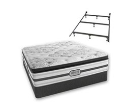 Simmons Beautyrest California King Size Luxury Plush Pillow Top Comfort Mattress and Box Spring Sets With Frame simmons doris