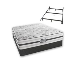 Simmons Beautyrest California King Size Luxury Plush Comfort Mattress and Box Spring Sets With Frame simmons beatrice calking pl std set with frame