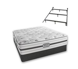 Simmons Beautyrest Full Size Luxury Extra Firm Comfort Mattress and Box Spring Sets With Frame simmons beatrice full lf std set with frame