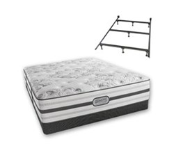 Simmons California King Size Luxury Firm Comfort Mattresses simmons beatrice calking lf low pro set with frame
