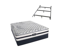 Simmons Twin Size Luxury Firm Comfort Mattresses N Hanover Twin F Std Set with Frame N