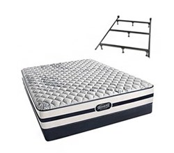 Simmons Twin Size Luxury Firm Comfort Mattresses N Hanover Twin F Low Pro Set with Frame N