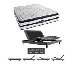 Simmons  Beautyrest Twin Size Luxury Firm Pillow Top Comfort Mattresses N Hanover Twin LFPT Mattress w Mass Base