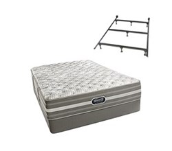 Simmons Beautyrest Twin Size Luxury Extra Firm Comfort Mattress and Box Spring Sets With Frame simmons shorecliffs twinxl uf low pro set with frame