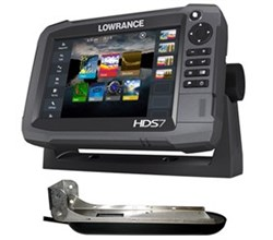 Lowrance HDS 7 Gen 3 Multifunction Fishfinder Chartplotters lowrance hds 7 w/ totalscan transducer