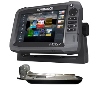 lowrance hds 7 w/ totalscan transducer