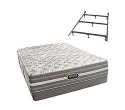 Simmons Beautyrest Queen Size Luxury Extra Firm Comfort Mattress and Box Spring Sets With Frame simmons shorecliffs queen uf low pro set with frame