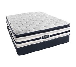 Simmons Beautyrest California King Size Luxury Plush Pillow Top Comfort Mattress and Box Spring Sets Ford CalKing PPT Std Set