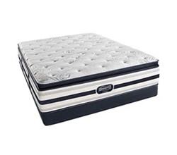 Simmons Beautyrest California King Size Luxury Plush Pillow Top Comfort Mattress and Box Spring Sets Ford CalKing PPT Low Pro Set