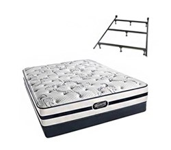 Simmons Beautyrest Twin Size Luxury Plush Comfort Mattress and Box Spring Sets With Frame N Hanover TwinXL PL Low Pro Set with Frame N