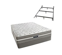Simmons Beautyrest Full Size Luxury Extra Firm Comfort Mattress and Box Spring Sets With Frame simmons salem full xf std set with frame