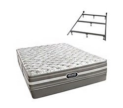Simmons Beautyrest Queen Size Luxury Extra Firm Comfort Mattress and Box Spring Sets With Frame simmons salem queen xf low pro set with frame