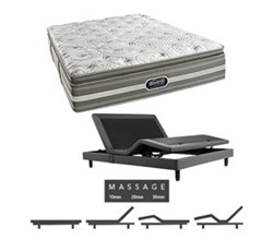 Simmons Beautyrest Queen Size Luxury Plush Pillow Top Comfort Mattress and Adjustable Bases simmons salem queen ppt mattress w mass base