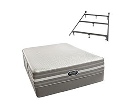 Simmons Beautyrest Full Size Luxury Plush Comfort Mattress and Box Spring Sets With Frame simmons oradell full pl std set with frame