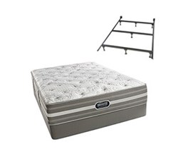 Simmons Beautyrest King Size Luxury Firm Comfort Mattress and Box Spring Sets With Frame simmons salem king lf std set with frame