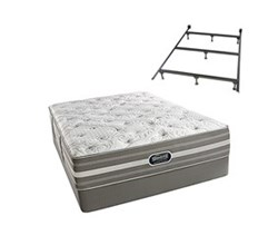 Simmons Beautyrest King Size Luxury Plush Comfort Mattress and Box Spring Sets With Frame simmons salem king pl std set with frame