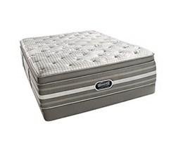 Simmons Beautyrest California King Size Luxury Firm Pillow Top Comfort Mattress and Box Spring Sets Smyrna CalKing LFPT Low Pro Set