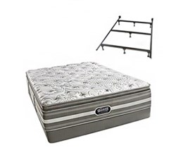 Simmons Beautyrest King Size Luxury Firm Pillow Top Comfort Mattress and Box Spring Sets With Frame simmons salem king lfpt low pro set with frame