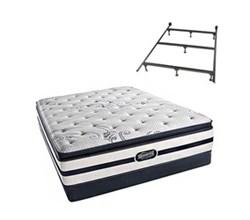 Simmons Queen Size Luxury Firm Pillow Top Comfort Mattresses N Hanover Queen LFPT Low Pro Set Split N