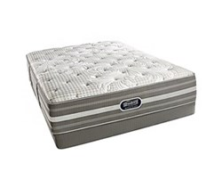 Simmons Beautyrest Queen Size Luxury Plush Comfort Mattress and Box Spring Sets Smyrna Queen PL Low Pro Set