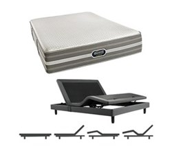 Simmons Beautyrest California King Size Luxury Plush Comfort Mattress and Adjustable Bases simmons oradell calking pl mattress w base
