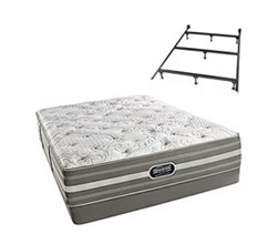 Simmons Beautyrest California King Size Luxury Firm Comfort Mattress and Box Spring Sets With Frame simmons salem calking lf low pro set with frame