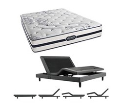 Simmons Beautyrest Queen Size Luxury Firm Comfort Mattress and Adjustable Bases N Hanover Queen LF Mattress w Base N