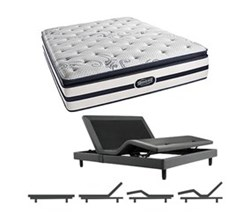 Simmons Beautyrest Queen Size Luxury Plush Pillow Top Comfort Mattress and Adjustable Bases N Hanover Queen PPT Mattress w Base N