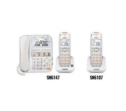 2 Handsets Phones with an Answering Machine vetch sn6147 sn6107