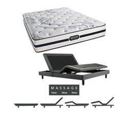 Simmons Beautyrest King Size Luxury Firm Comfort Mattress and Adjustable Bases N Hanover King LF Mattress w Mass Base N