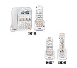 VTech CareLine Corded Cordless  vetch sn6147 sn6307 sn6107