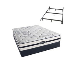 Simmons Beautyrest California King Size Luxury Firm Comfort Mattress and Box Spring Sets With Frame N Hanover CalKing LF Low Pro Set with Frame N
