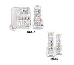 2 Handsets Phones with an Answering Machine sn6147 2 sn6307