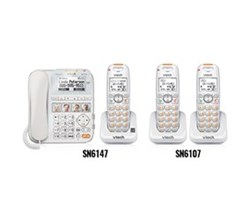 2 Handsets Phones with an Answering Machine sn6147 2 sn6107
