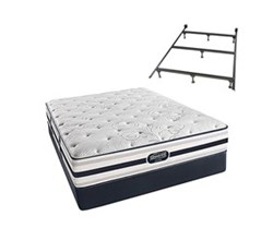 Simmons Beautyrest Queen Size Luxury Firm Comfort Mattress and Box Spring Sets With Frame simmons fair lawn queen lf std set with frame