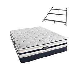 Simmons Beautyrest Queen Size Luxury Firm Comfort Mattress and Box Spring Sets With Frame simmons fair lawn queen lf low pro set with frame