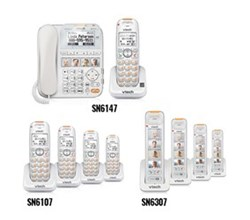 2 Handsets Phones with an Answering Machine sn6147 4 sn6307 4 sn6107