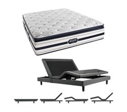 Simmons Beautyrest Queen Size Luxury Firm Pillow Top Comfort Mattress and Adjustable Bases simmons fair lawn queen lfpt mattress w base