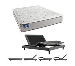 Simmons Beautyrest Full Size Luxury Plush Pillow Top Comfort Mattress and Adjustable Bases Cadosia Full PET Mattress w Base N