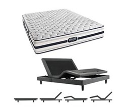 Simmons Beautyrest King Size Luxury Firm Comfort Mattress and Adjustable Bases simmons fair lawn king xf mattress w base