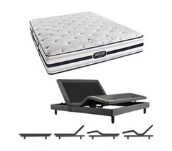 Simmons Beautyrest King Size Luxury Firm Comfort Mattress and Adjustable Bases simmons fair lawn king lf mattress w base