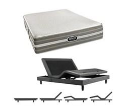 Simmons Beautyrest Queen Size Luxury Firm Comfort Mattress and Adjustable Bases Port Huron Queen LF Mattress w Base