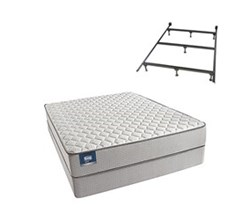 Simmons Beautyrest Queen Size Luxury Firm Comfort Mattress and Box Spring Sets With Frame Cadosia Queen F Std Set with Frame N