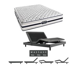 Simmons Beautyrest King Size Luxury Firm Comfort Mattress and Adjustable Bases simmons fair lawn king xf mattress w mass base