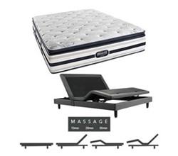 Simmons Beautyrest King Size Luxury Firm Pillow Top Comfort Mattress and Adjustable Bases simmons fair lawn king lfpt mattress w mass base